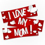 I Love My Mom — Vector de stock