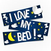 I Love My Bed — Stock Vector