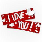 Ti amo — Vettoriale Stock