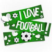 Amo il calcio — Vettoriale Stock