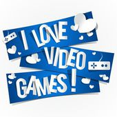 I Love Video Games — Stock Vector