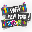 Happy New Year 2015 Greeting Card — Stock Vector #42650583