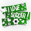 I Love Soccer — Stockvektor  #42979473