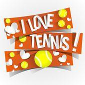 I Love Tennis — Stock Vector
