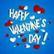 Happy Valentines Day Greeting Card — Stock Vector #44752203