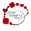 Happy Valentines Day Greeting Card — Stock Vector #44758063