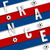 Selección de fútbol de francia — Vector de stock