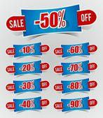 Discount prices Stickers — Stok Vektör