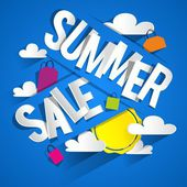 Summer Sale Background — Stock Vector