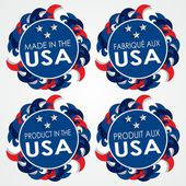 Made in the USA Badges — 图库矢量图片
