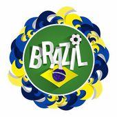 значок команды бразильский футбол — Cтоковый вектор