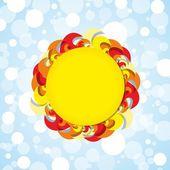 Güneş arka plan — Stok Vektör