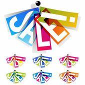 Rainbow Sale Badges — Vector de stock
