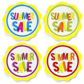 Summer Sale Badges — Stockvektor