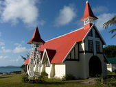 Red Roofed Church — Stockfoto