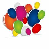 Multicolored Balloons — Stock Vector