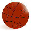 Basket-ball ball — Stock Vector
