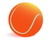 Orange tennis myach — Stock Vector
