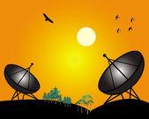 Two satellites — Stock Vector