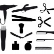 Stock Vector: Barber tools
