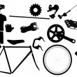 Parts for bicycles — Stock Vector