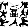 Stock Vector: Martial arts
