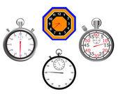 Stop saatler ve saatler — Stok Vektör
