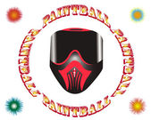 Paintball mask — Stock Vector