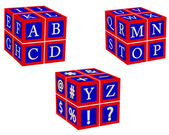 Engelska bokstäver — Stockvektor
