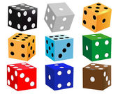 Dice for games — Stock Vector