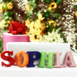 Name Sophia — Foto de stock #24987087