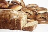 Bakade och torkning donut — Stockfoto