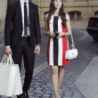 Shopping womand helper man — Stockfoto #28829925