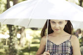 Girl with umbrella — Foto de Stock