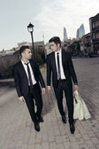Purchase of businessmen,shopping guys — Foto de Stock