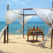 Romantic canopy on Samui Island beach — Stock Photo
