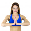 Royalty-Free Stock Photo: Young woman practicing yoga