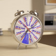 Alarm with dial daily routine — Stockfoto