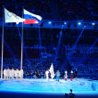 Foto Stock: Oath of Judges during Opening Ceremony of Sochi 2014