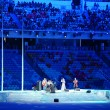 Stock Photo: AnnNetrebko Olympics sings anthem
