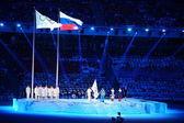 Juramento dos juízes durante a cerimônia de sochi 2014 abertura — Foto Stock