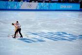 Alexander GAZSI and Nelli Zhiganshina at Sochi 2014 XXII Olympic Winter Games — Stock Photo