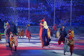Performance at the stage of the Closing ceremony of Sochi 2014 — Stockfoto