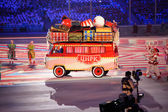 Circus performance at the Closing ceremony of Sochi 2014 — Stockfoto