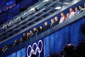 Officials at the stands of Closing ceremony of Sochi 2014 — Stockfoto