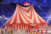 Circus prestaties tijdens de slotceremonie van Sotsji 2014 — Stockfoto