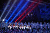 Performance at the stage of the Closing ceremony of Sochi 2014 — Stock Photo