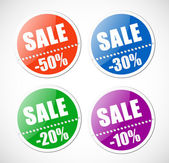Sale stickers with perforation. — Stock Vector