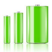 Green battery range. — Stock Vector
