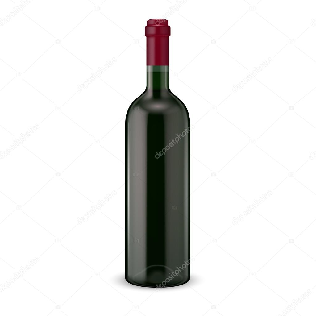 glass red wine bottle vector illustration glass bottle collection item 13 vector by gruffi bottle red wine